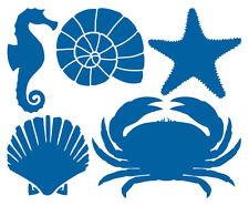 MARITIM AUFKLEBER Sticker Seepferdchen Muschel Seestern Krabbe Meer Fliesen Deko