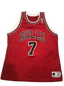 Chicago Bulls Toni Kukoc #7 Champion jersey 48 NBA throwback 1993-2000 Vintage