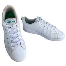 Adidas Running VS Advantage White Leather Tennis Shoe Size 5 UK