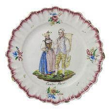 Pair Continental Faience Plates 19th Century