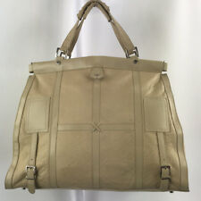 4749dacb611a Gianni Versace Beige Cream Leather Satchel Purse Made in Italy