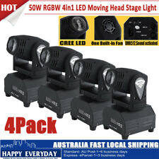 4Pack 50W LED Moving Head Stage Light RGBW Beam Spot 11/13CH DMX Sound Control