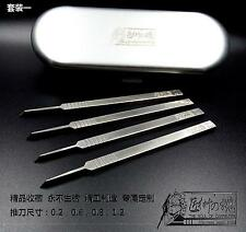 Model Tools Craft Car Gundam Mobile motor Model Tool Steel Chisel 4 blades b Set