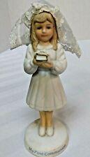 "Vintage My First Communion Ceramic Figurine 1990 Roman Inc 6"" Tall"