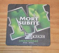 Sous-bock bière Mort Subite manzana, très bon état, n'a jamais servi