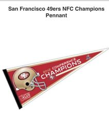 12x30 2012 Super Bowl Conference Champs Limited SF San Francisco 49ers Pennant