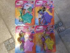Winx Club dolls Set 4 mini 3D Figurines Figures