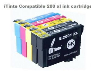5 PACK T200XL iTinte Compatible For Epson T200 Ink Cartridges Black & Color New