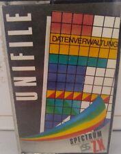 Unfile Spectrum 48k (TAPE) (Game, imballaggio, Manual)