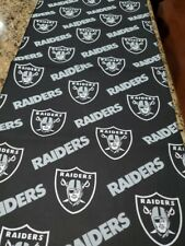 """Raiders Cotton Fabric 12"""" by 60"""" NFL"""