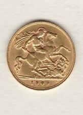 More details for 1909 edward vii gold half sovereign in extremely fine condition.