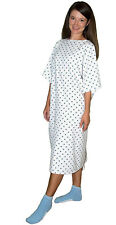 Demure Print Hospital Patient Gown with Ties One Size Fits All - 1 Pack