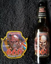 Iron Maiden Trooper 666 PATCH & Rare Limited Edition Collectable Beer Bottle