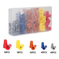 158pc Wire Connectors Assortment Kit Caps Nuts w/Spring Insert Assortment