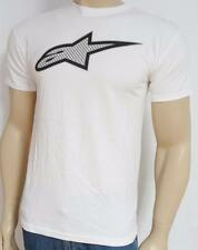 Alpinestars One Vision Logo White 100% Cotton T-Shirt New NWT Mens Small