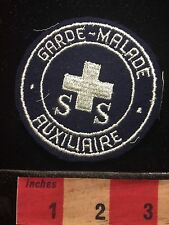 SS Garde Malade Auxiliaire Medical Related Patch ?France Red Cross ? Nurse? C692