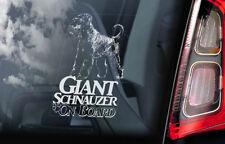 GIANT SCHNAUZER Car Sticker, Russian Bear Dog Window Sign Decal Gift Pet - V02