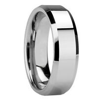 Mens 8MM TUNGSTEN Carbide Polish Wedding Band Ring His SIZE 8 9 10 11 12 13 NEW