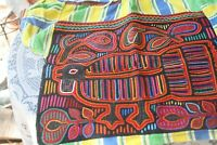 VTG Kuna Mola Folk Art Blouse Two Sided large bird Turkey