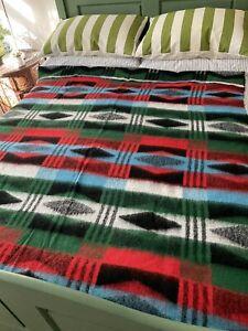 Vintage Tetem Style Reversible Bright  Blanket 150 Cms X 182cms.