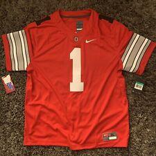 Nike Ohio State Buckeyes Limited Red Blackout Sz Xl Fields Osu Jersey Black #1