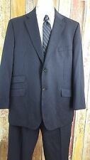 Ted Baker Endurance Men's Wool Black Pinstripe 2 Piece Suit 46 Regular 40x29