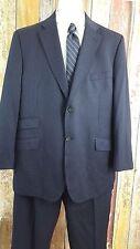 Ted Baker Endurance Men's Wool Black Pinstripe 2 Piece Suit 46 Regular 40x29