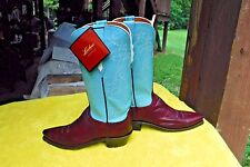 NEW W/TAG LUCCHESE 1883 WINE BURNISHED RANCH HAND WOMENs BOOTS(STORE F.S.)SZ 7 B