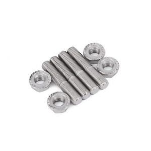 Motorcycle Street Bike 4x 8mm Bolt Exhaust Port Stud Nuts for   on road