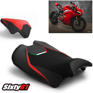 Ducati Panigale V4 Seat Covers 2018-2021 Red Veloce Luimoto Tec-Grip Front Rear