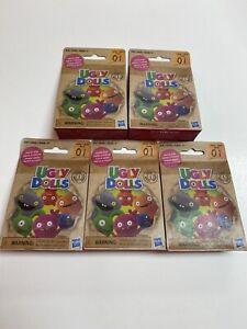 NEW Lot Of 5 Ugly Dolls Lotsa Ugly Mini Blind Surprise Figures Series 1 Hasbro