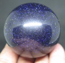 50mm 6OZ Blue GOLDSTONE Crystal Sphere Ball