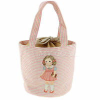 Vintage Style / Retro Picnic Lunch Cooler Thermal Bag Cute Girl - UK Supplier