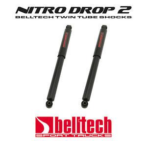 """99-06 Silverado/Sierra Nitro Drop 2 Rear Shocks 5"""" - 7"""" Drop (Pair) by Belltech"""