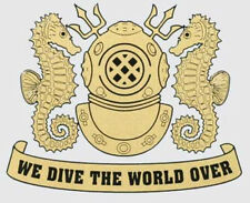 (Pack of 3) We Dive The World Decal Sticker! 200-67 JB company