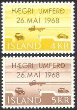 Islandia 1968 Coches/Camión/Motoring/transporte/cambio de reglas/Road 2v Set (n23525)