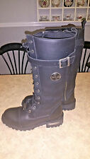 """Womens ~Milwaukee Leather 15"""" Black Tall High Rise Riding Boots~ Size 9.5"""