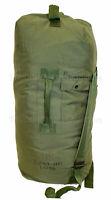 US Military TOP LOADING DUFFEL BAG Duffle with Straps Sea Bag OD Nylon GC