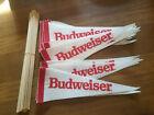 Budweiser Advertising Sign Pennants Heavy Felt - 25 Pennants + sticks