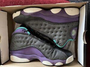 Girls' Nike Air Jordan XIII 13 Black Atomic Teal Ultraviolet Retro GS 2013 sz 6Y