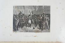 Druck Buchseite Napoleon Adieu at Fontainbleau H. Vernet (N99/ 100)