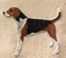 American Fox Hound, Two Hand Towels, Embroidered, Custom, Personalized, Dog
