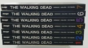 The Walking Dead Hardcover Set Volumes # 1 - 7 Hardcover Graphic Novels AMC