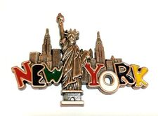 Bronze New York City Skyway & Statue of Liberty NY Souvenir Gift Fridge Magnets