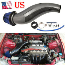 Real Carbon Fiber Air Intake Pipe Air Filter Kit For 1992-2000 Honda Civic EK EG