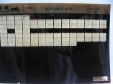 Kawasaki KZ1000 K1 LTD 1981 Parts Microfiche NOS k444