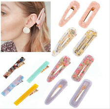 Women's Girls Acrylic Hair Clip Hairpin Slide Grips Barrette Hair Accessories