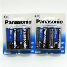 4 Size D Panasonic Super Heavy Duty Batteries Battery - 2 x 2 packs