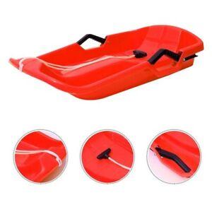 2021 Solid Snow Sledge Toboggan Sled Sleigh Plastic Sledding Boat Board winter