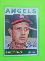 1964 TOPPS Signed Autograph #149 Paul Foytack Angels